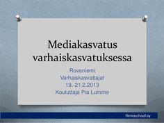 Mediakasvatus varhaiskasvatuksessa -koulutus