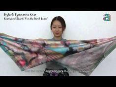 Wie binde ich einen dicken Schal für den Winter? - YouTube