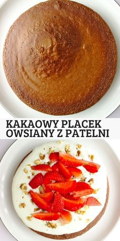 Kakaowy placek owsiany z patelni A simple and healthy fit breakfast or a sweet lunch. Pan-fried cocoa oat cake can Baby Food Recipes, Diet Recipes, Cooking Recipes, Healthy Recipes, Food Porn, Slow Food, Breakfast Recipes, Breakfast Cake, Diets