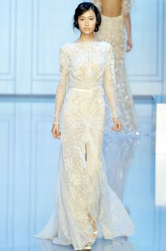 Elie Saab Couture Wedding Gown Fall Winter 2011 Paris