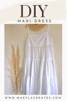 Sewing Summer Dresses, Diy Summer Clothes, Simple Summer Dresses, Summer Dress Patterns, Dress Sewing Patterns, Clothing Patterns, Summer Maxi, Skirt Patterns, Blouse Patterns