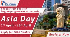 #‎AsiaDay‬ is going to start from 2nd April at ‪#‎TheChopras‬ office! Checkout the Advantages & why one should join Asia Day http://goo.gl/lzPfY3  #asiaday #studyinsingapore #studyabroad