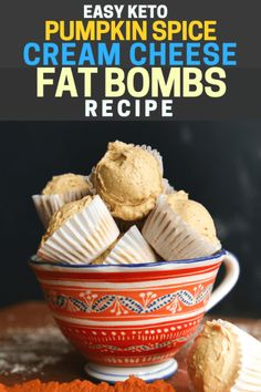 Keto Pumpkin Spice Cream Cheese Fat Bombs Recipe - The Diet Chef
