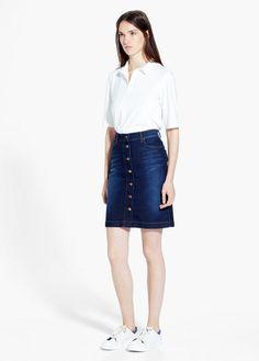 Buttons Mejores Y Fashion Mango Skirts Mng Imágenes De Short 12 awqAYa
