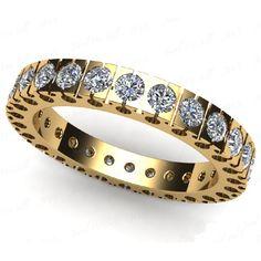 1.15 quilates eternidad anillo de diamantes en oro de 14K