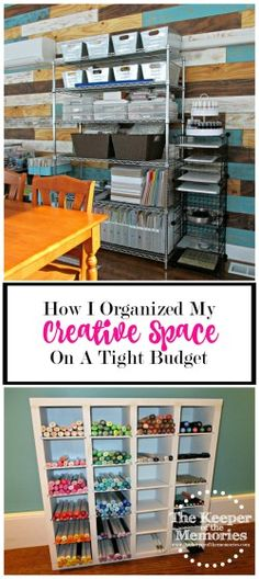 You can have an awesome creative space on a tight budget and this post explains how. Check out how one mama put together a studio space for her and her son without spending a lot of money.