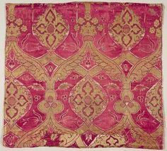 brocade fragment, late 16th century