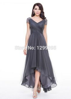 HI-LO-Beads-Sleeves-Bridesmaid-Dress-Wedding-Cocktail-Party-Evening-Prom-Dresses