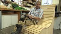 Martin Timell bygger en vacker utomhussoffa Wood, Crafts, Furniture, Home Decor, Manualidades, Decoration Home, Woodwind Instrument, Room Decor, Home Furniture