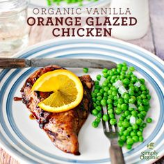 Organic vanilla flavoring gives this baked chicken's citrus marinade just the right touch of sweetness.