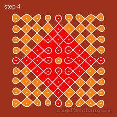 9x9 Dot Rangoli Step 4