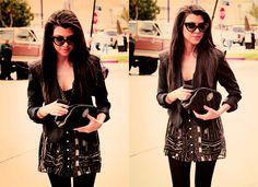 kourtney kardashian, love her sunglasses <3
