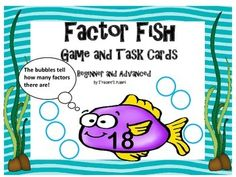 Factor Games - Factor Fish Game and Task Cards 4.OA.B.4