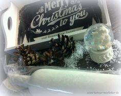 SET mit HOLZ TABLETT Merry Christmas + SCHNEEKUGEL Engel + FLASCHEN KERZE + DEKO