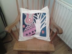Cushion - tapestry and cotton by Lisa Jennings