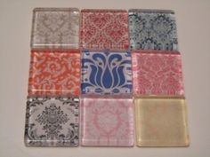 Damask Refrigerator Magnets Set of 9 Fridge Magnets by DLRjewelry, $15.00