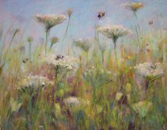 watercolor and pastel painting | Resolving a Watercolor Underpainting...Wildflower Pastel Demo
