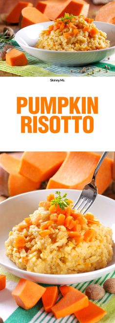 This Pumpkin Risotto cuts the cals and clocks in at only 210 calories!