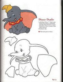riscos Dumbo - riscos Dumbo All sizes Paper Piecing Patterns, Felt Patterns, Applique Patterns, Scrapbook Da Disney, Disney Wall Decals, Disney Crafts, Baby Kind, Felt Ornaments, Disney Cartoons