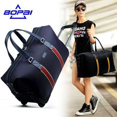Travel Luggage BOPAI Large Capacity Suitcases and Travel Bags Waterproof Rolling Luggage Duffel Bags Women Men Trolley Luggage