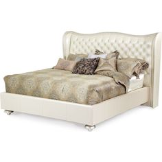 AICO Hollywood Swank King Upholstered Bed by Michael Amini....Love the whole bedroom set!!!!