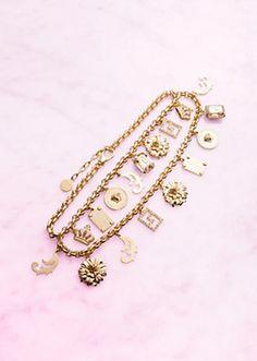 """Versace - """"Mix"""" Double Charm Necklace"""