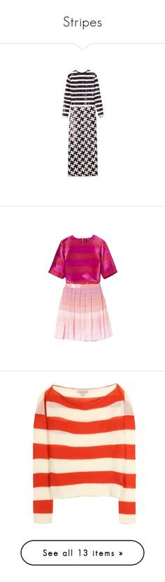 """""""Stripes"""" by superb ❤ liked on Polyvore featuring dresses, gowns, marc jacobs, purple dress, marc jacobs dresses, markus lupfer, vestidos, markus lupfer dress, pink dress and tops"""