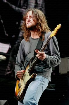 John frusciante with his 1962 fender stratocaster