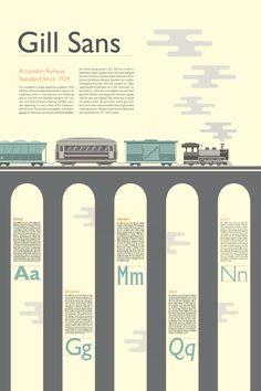Gill Sans Poster on Behance