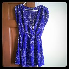 ?SALE!?Kimchi Blue dress 100% silk. Purple and tan Kimchi Blue dress from Urban Outfitters. Super cute and flowy for summer! Necklace also for sale! Urban Outfitters Dresses Mini
