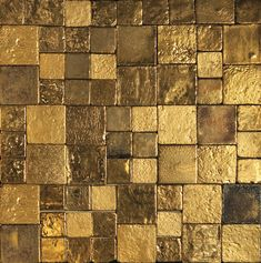 ORO - gold tiles for family room fireplace! Tile Art, Tiles, Texture Metal, Pattern Texture, Gold Aesthetic, Italian Art, Gold Leaf, Textures Patterns, Arches