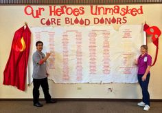 "Hawaiian Electric's ""Wall of Heroes"" -- blood and apheresis donors."