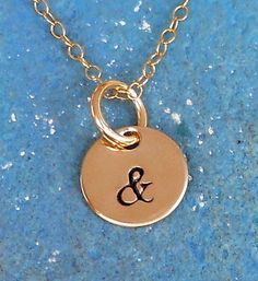 Gold Ampersand Necklace by SeaSaltShop on Etsy, $24.00