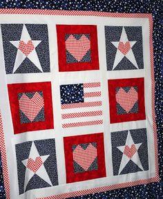 Patriotic paper-pieced blocks!