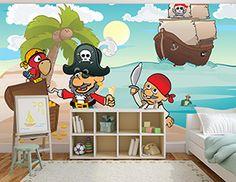 Kids love this treasure island #mural! #pirates #home #decor #kids