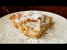 Μπουγάτσα με εύκολη κρέμα!!! - YouTube Greek Recipes, Apple Pie, Sweets, Cheese, Desserts, Youtube, Kitchens, Tailgate Desserts, Deserts