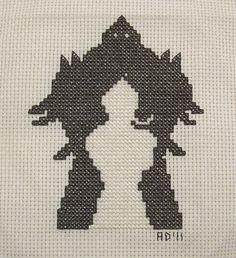 Fullmetal Alchemist cross-stitch stitched by Allisona, via Flickr