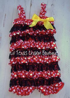 Vintage Minnie Mouse Inspired Romper!