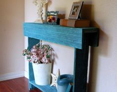 Wood Recycled Furniture Console Table. Country by TRUECONNECTION