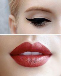lips and eyeliner.