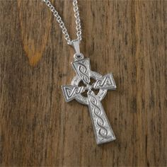 Sterling Silver Celtic Cross at Creative Irish Gifts.