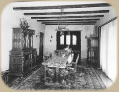 Rudolph Valentino's Dining Room | Falcon Lair | Los Angeles, California