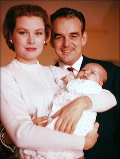 Princess Grace, Prince Rainier and Princess Caroline.