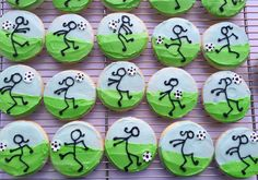 For the LOVE of Soccer: Sugar Cookies with buttercream design