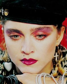 Check out Madonna @ Iomoio Madonna 80s Outfit, Madonna Fashion, Madonna 80s Makeup, Madonna Young, Madonna Mode, Madonna Albums, Madonna Photos, 1980s Makeup And Hair, 1980 Makeup