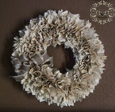 Well Read Wreath (book page wreath)