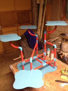 Cupcake stand we made from PVC pipe