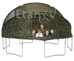 Trampoline tent 366 cm van Etan met legerprint 99 euro – trampolineland.nl