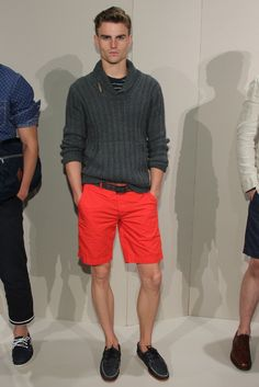 red-orange shorts back to charcoal.  j.crew ss12.