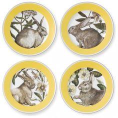 Gelb-Banded Ostern Salat Platten-Ostern-deko